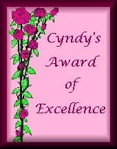 Cyndy's Award of Excellence